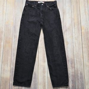 Levi's 550 Relaxed Fit Black Jeans Size 34/34